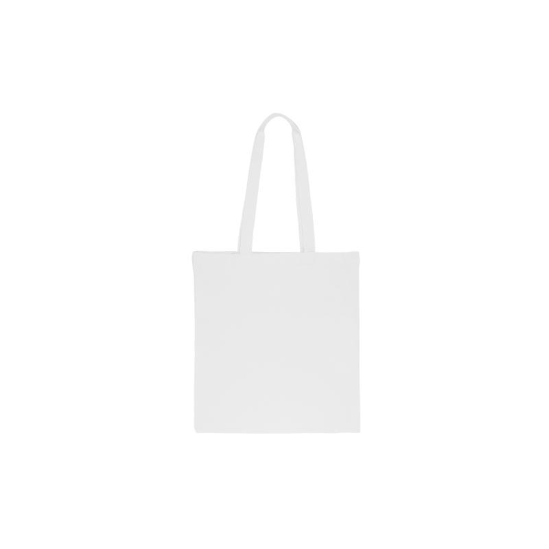 Baumwolltasche 1 Stk., 38 x 42 cm, mit langen Henkeln, weiß
